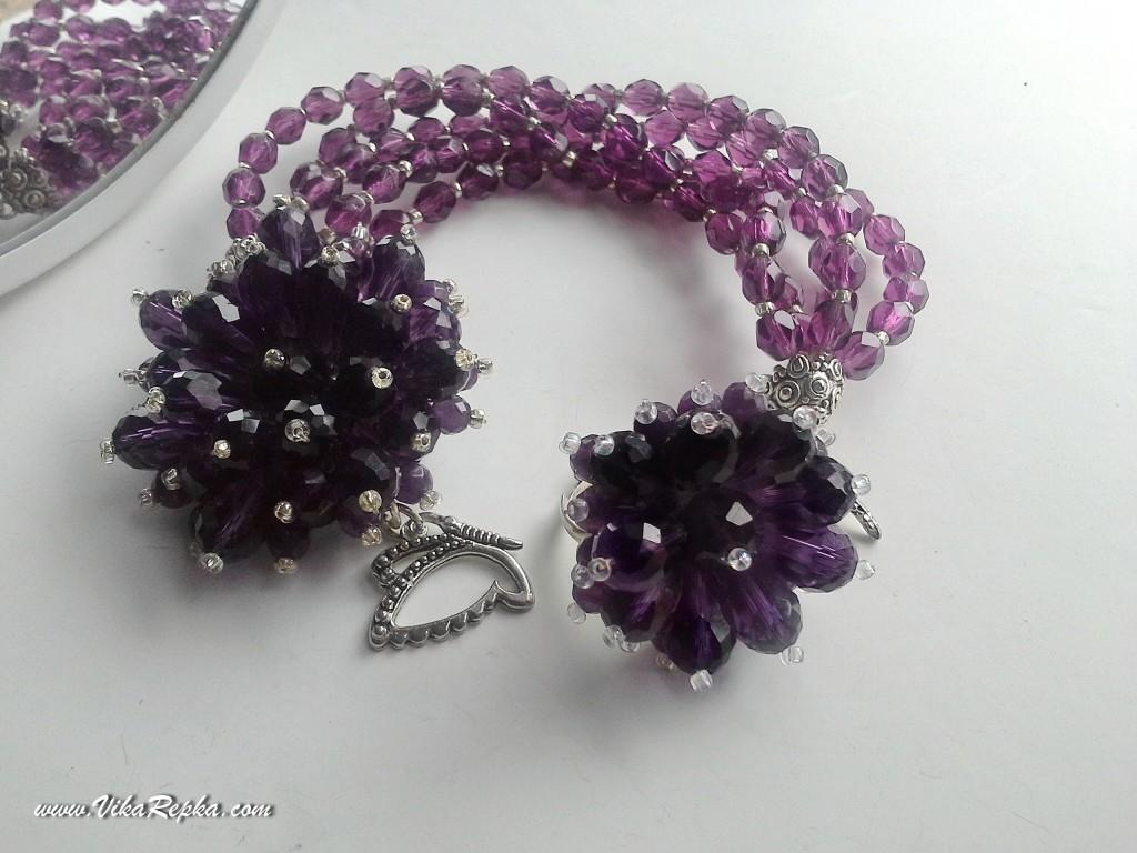 Purple Glass Set